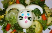 Ensalada de huevo de conejo