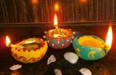 Diya decorativo hechos a mano (lámparas de aceite)