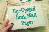 Ciclo de correo basura en papel artesanal