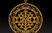 3D modelado un imprimible Shri Yantra colgante de una imagen (Zbrush)