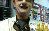 Disfraz de científico loco mal