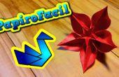 Cómo hacer un origami de flor estrella
