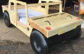 Cama del niño Humvee con caja de juguetes