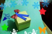 Carta caja de regalo.