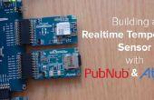 Sensor de temperatura en tiempo real y tablero de instrumentos