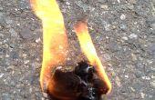 Como hacer un arrancador de fuego bola de algodón