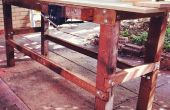 Reciclado madera banco de trabajo