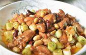 Cómo cocinar un tradicional plato chino-Kung pao pollo