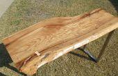 Plano de una losa de madera grande