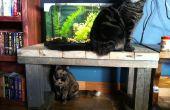 Mesa de soporte o café de acuario Upcycle