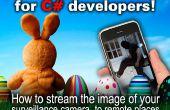 Cámara DIY tutorial de streaming para las vacaciones de Pascua: cómo transmitir la imagen de la cámara de vigilancia en lugares remotos (código de C#)