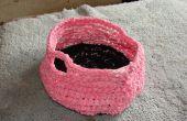 Cómo al crochet una cesta con hilo de camiseta