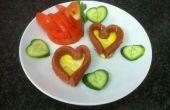 Diseñado cena - cisne y corazón