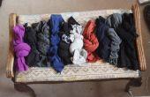 ¿Cómo almacenar medias por atado en nudos simples