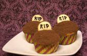 Cupcakes de lápida fácil