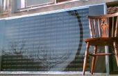 Paneles solares de DIY - calentadores de aire hechas de latas del estallido