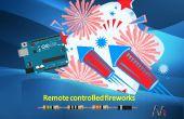Control remoto de los fuegos artificiales