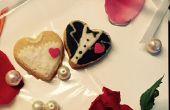 Personalizada números galletas de novios boda favores-novia