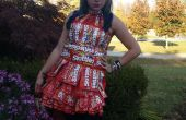 Vestido de la envoltura del skittle!