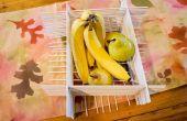 Cesta de fruta de madera