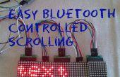 Controlado por bluetooth fácil texto desplazable