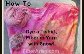 Teñido de nieve! Teñir camiseta, fibra o hilado con nieve