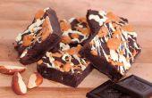 Chocolate oscuro sin harina y Brownies de mantequilla de maní