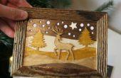 Cómo hacer tarjetas de Navidad de madera