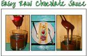 Fácil salsa de Chocolate crudo