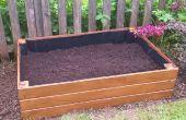 Plantador del jardín de la cama levantado madera