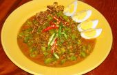 Alas tailandesa ensalada (Yum Tua Ploo)