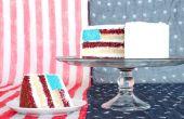 Pastel bandera americana