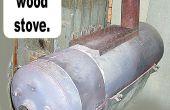 Convertir un agua caliente calentador en una estufa de leña de