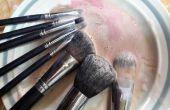 Cómo lavarse correctamente los pinceles de maquillaje con artículos para el hogar todos los días