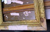 Restauración de un hallazgo de la venta de inmuebles... Un marco de cuadro antiguo 100 años.