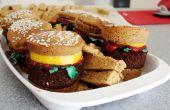 Cupcakes dulce hamburguesa y papas fritas!