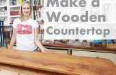Como hacer una encimera de madera