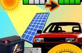 Cargador solar en tablero de instrumentos