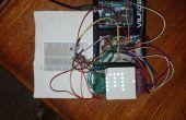 Controlador de matriz de LED Arduino 8 x 8 RGB con Shift 4 registros y Sensor de temperatura