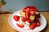 Tarta de fresas fácil vegano