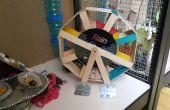 Hamster rueda octogonal y casa de juego