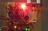 Detector con zumbador y LED medidor de distancia.
