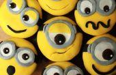 Cupcakes de plátano Minion
