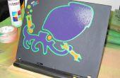 Plantilla de pintura en aerosol para laptop