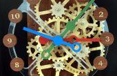 Reloj de engranajes con accionamiento de Motor paso a paso de madera