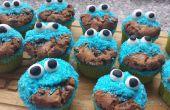 Fácil Cookie Monster Cupcakes