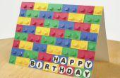 Tarjeta 3D de LEGO