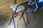 Reparación y mejora de las patas de una silla: aumento de la huella