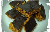 Panal de dulces cubiertos de chocolate