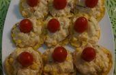SNACK de pollo y piña / ensalada